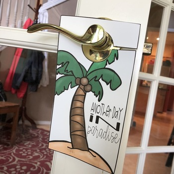 End of the Year Student Gift { Door Hangers }