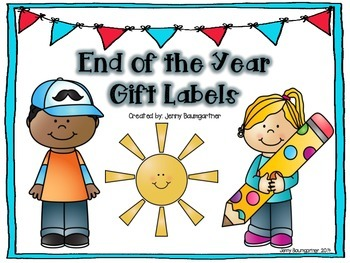 End of the Year Student Gift Labels