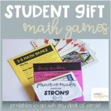 End of the Year Student Gift from Teacher - Math Card Games
