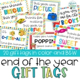 End of the Year Gift Tags for Students