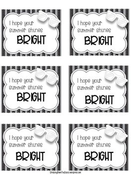 End of the Year Student Gift Tags {Color AND B&W!}
