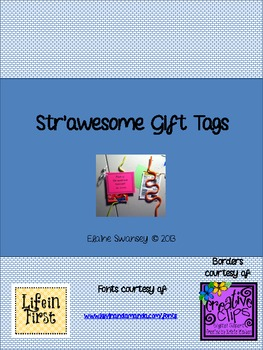 End of the Year Student Gift Tags: Have a Str'awesome Summer