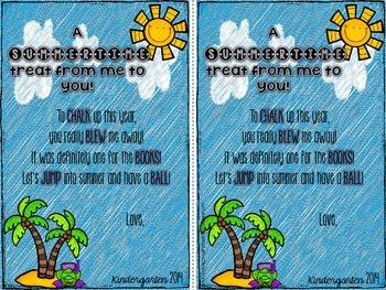 End of the Year Student Gift tag-FREEBIE
