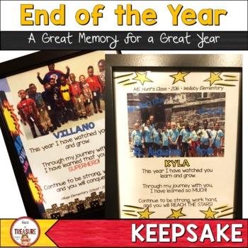 End of the Year Student Keepsake (Editable)