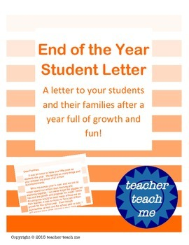 End of the Year Student Letter