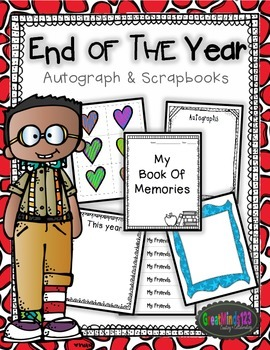 End of the Year Student Scrapbooks and Autograph Books