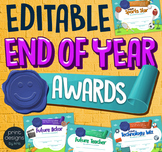 End of the Year Student Superlative Awards Certificates -