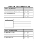 End or Middle of the Year Student Survey Feedback Elementary End of Year Review