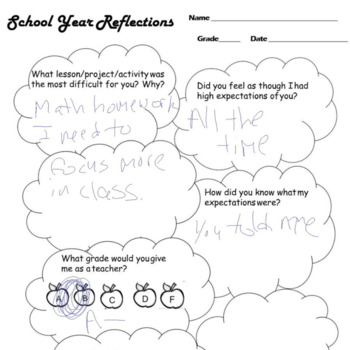 Student Reflection Survey and Reassurance Poem
