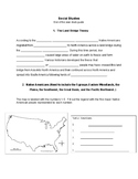 End of the Year Study Guide for 4th Grade Social Studies