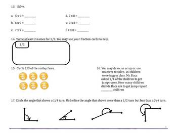 End of the Year Study Guide for Grade 3 Everyday Math