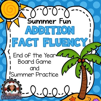 End of the Year Addition Fluency Game, Timed Tests, and Su