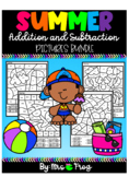 End of the Year / Summer Color By Number Addition Pictures Bundle