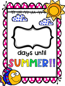 End of the Year Summer Countdown [FREEBIE]