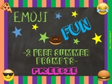 End of the Year Summer Fun Emoji Writing Prompts Includes 2 Freebies