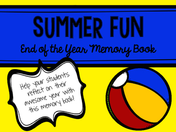 All About Me Memory Book End Of The Year Summer Fun