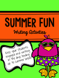 End of the Year Summer Fun Writing Activities