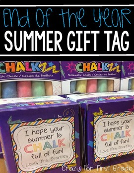 End of the Year Summer Gift Tag