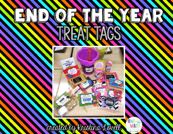 End of the Year Gift Treat Tags