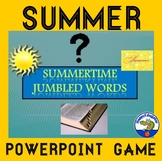 Summer Vocabulary Activity End of Year PowerPoint Game