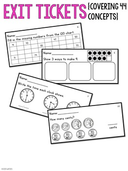 End of the Year & Summer Math Review {A Versatile Review Bundle for 1st Grade}