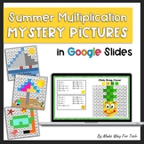 End of the Year Summer Multiplication Mystery Pictures |Summer Packet| in Google
