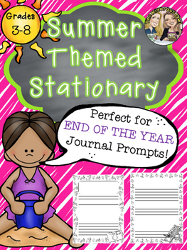End of the Year Summer Stationery for Upper Grades