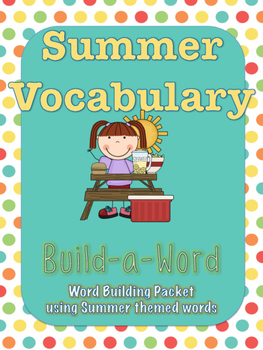 End of the Year Summer Vocabulary World Building