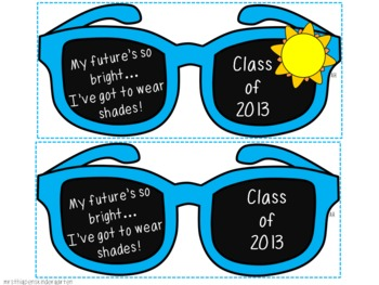 End of the Year Sunglasses----Class of 2014