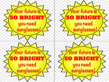 End of the Year Sunglasses Gift Tag - Bright Future