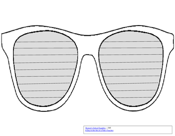 End of the Year Sunglasses Template