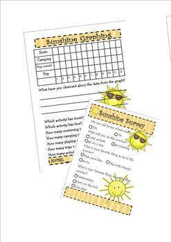 End of the Year Sunshine Glyph (writing and math included)