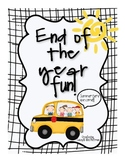 End of the Year Super Fun Activities!