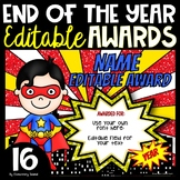 End of the Year Editable Superhero Awards