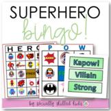 End of the Year Superhero BINGO!
