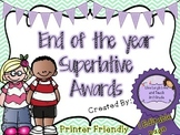 End of the Year Superlative Awards (Editable)
