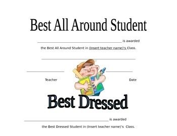 End of the Year Superlatives for Primary Grades