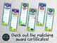 End of the Year THIRD GRADE Student Superlative Awards Bookmarks