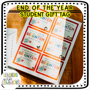 End of the Year Tag for Students