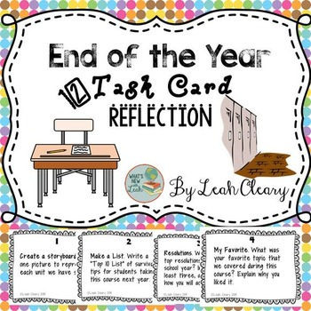 End of the Year Task Card Reflections