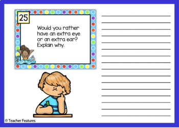Task Cards: End of the Year Writing Prompts