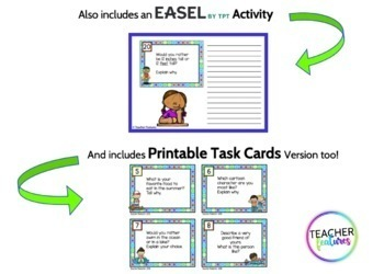 End of the Year WRITING PROMPTS Task Cards