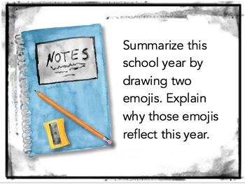 End-of-the-Year Task Cards: Activity, Discussion Questions