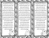 End of the Year Teacher Gift/Poem/Tag/Bookmark--Monster Black & White Themed