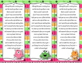 End of the Year Teacher Gift/Poem/Tag/Bookmark--Monster Themed