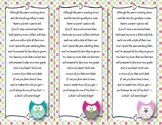 End of the Year Teacher Gift/Poem/Tag/Bookmark--Owl Themed