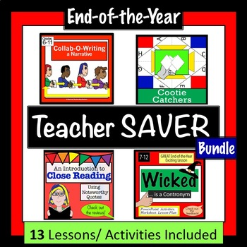 End of the Year Teacher Saver