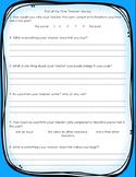 End of the Year Teacher Survey