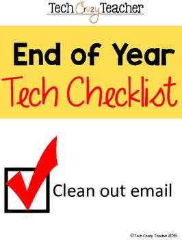 End of the Year Tech Checklist Freebie