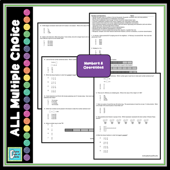 End of the Year Test Prep - 3rd Grade Math